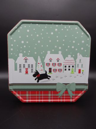 Tesco Scottish Terrier dog shortbread tin