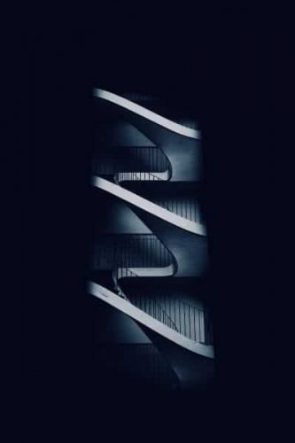 Staircases on a dark blue background