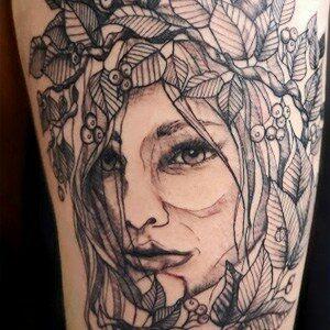 Schets tatoeage