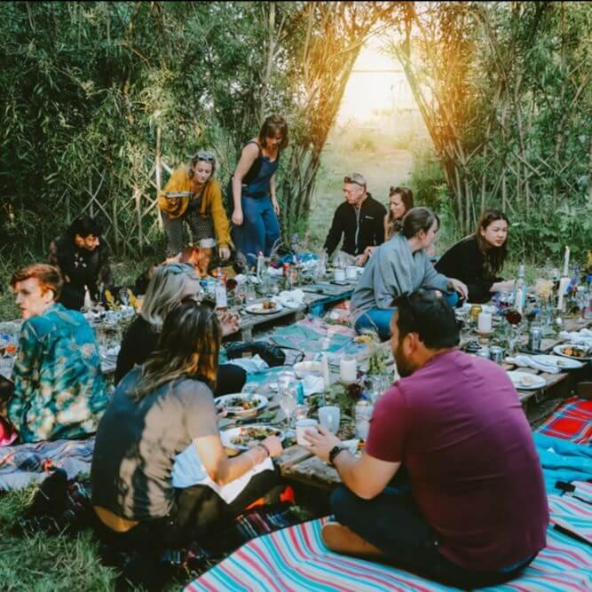 Outdoor feast
