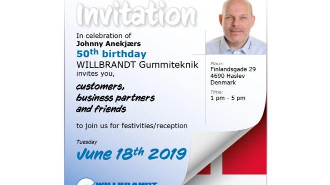 Invitation til reception