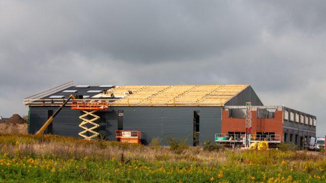 Så blev det tid til rejsegilde på WILLBRANDTs nye lagerhal og kontorbygning