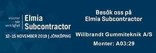 Träffa oss på Elmia Subcontractor