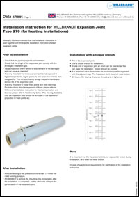 Installation-Instruction-for-WILLBRANDT-Expanion-Joint-Type-270-(for-heating-installations)