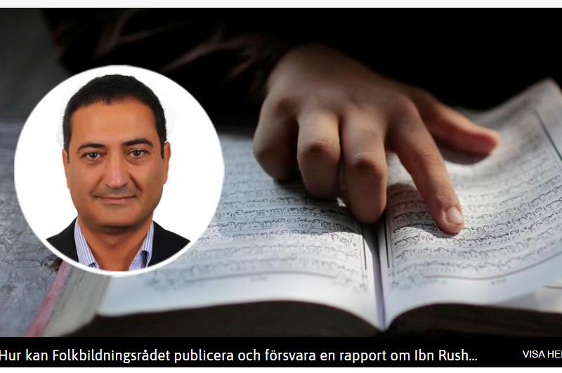 Sameh Egyptson: Ta avslöjandena om Ibn Rushd på allvar