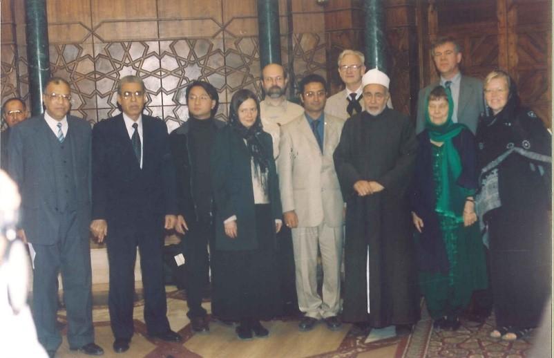 Grand imam Muhammad Sayyid Tantawy, prof. Aasulv Lande, Sameh Egyptson, Åsa Egnér, prof. Karl Sundberg, Ann Aldén, Göran Viking, Jieren Li och pro. Anita Diehl.