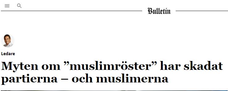 """Myten om """"muslimröster"""" har skadat partierna – och muslimerna"""