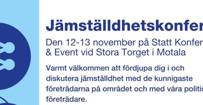Jämställdhetskonferensen i Motala 12-13 november 2021