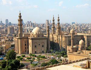 Cairo Sultan Hassan moskee en ar-Rifai moskee