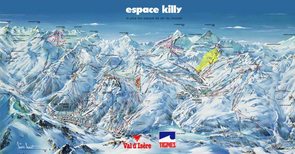 De pistes in Tignes en Espace Killy