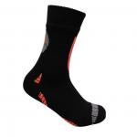 Waterdichte sokken zwart met oranje