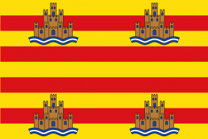 De vlag van Ibiza