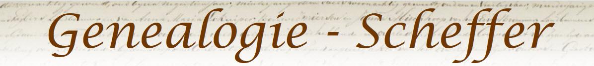 Genealogie Scheffer