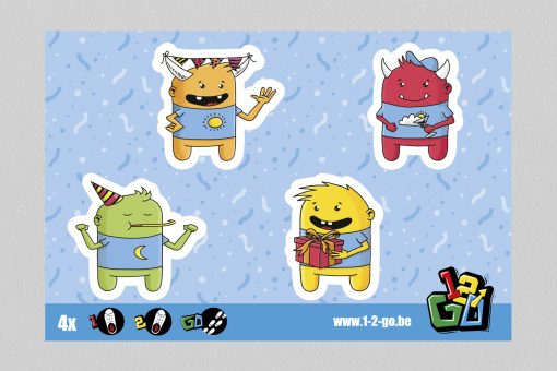 1-2-Go! schoenstickers - Party animals