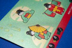1-2-Go! schoenstickers - Geisha's: detail