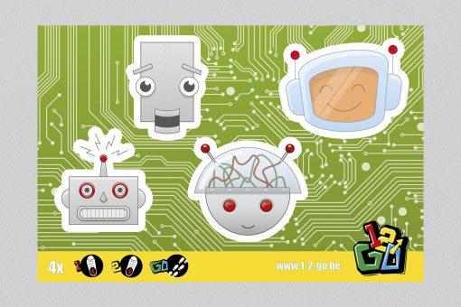 1-2-Go schoenstickers - Robots