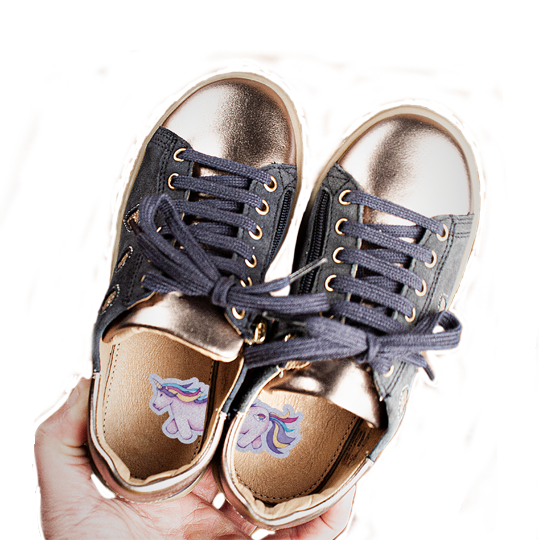 1-2-Go! schoenstickers - Voorbeeld gebruik