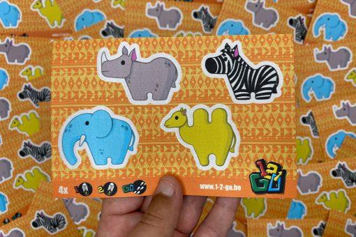 1-2-Go! schoenstickers - Safari