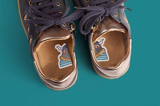 1-2-Go! schoenstickers - Vikingen