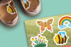 Bloemetjes en bijtjes - 1-2-Go! schoenstickers