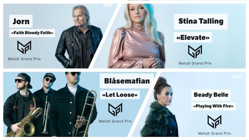 Eerste vier inzendingen Melodi Grand Prix bekend.