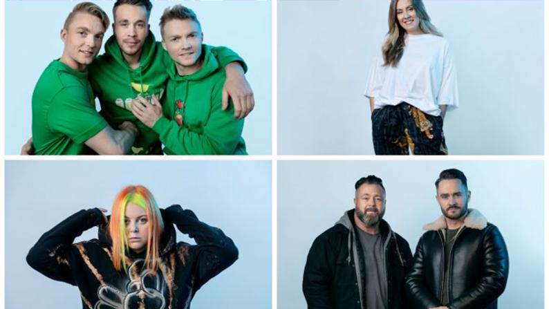 Kandidaten vijfde halve finale Melodi Grand Prix bekend.