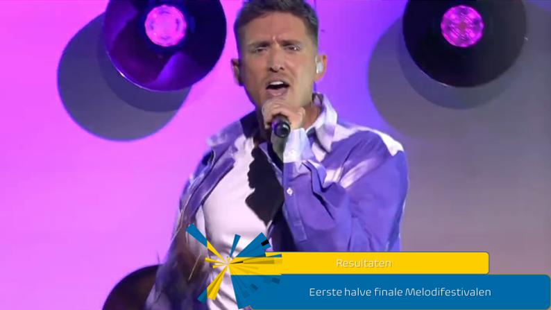Zweden  Resultaten eerste halve finale Melodifestivalen.