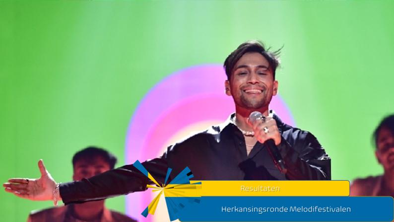 Zweden  Resultaten herkansingsronde Melodifestivalen.