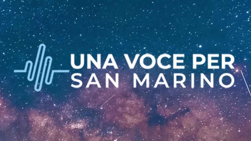 Nationale finale Una Voce Per San Marino voorgesteld.