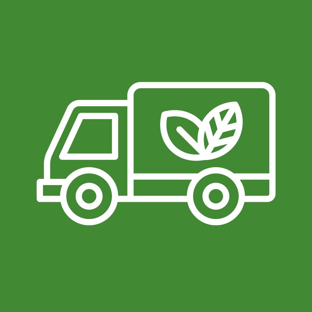 Vi har ett långtgående miljötänk med butiker som gör minimalt avtryck på miljön med målet att våra butiker ska vara självförsörjande. Vi jobbar aktivt med våra leverantörer och våra butiker minskar antalet bilresor.
