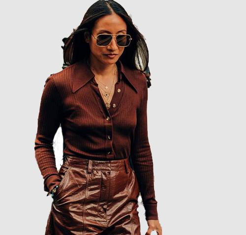 Lookbook sunglasses Cardigan Skirt Cropped