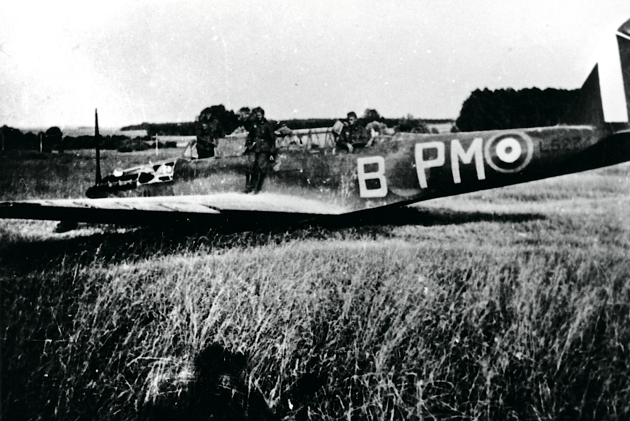 Nedskudt fly i Jylland