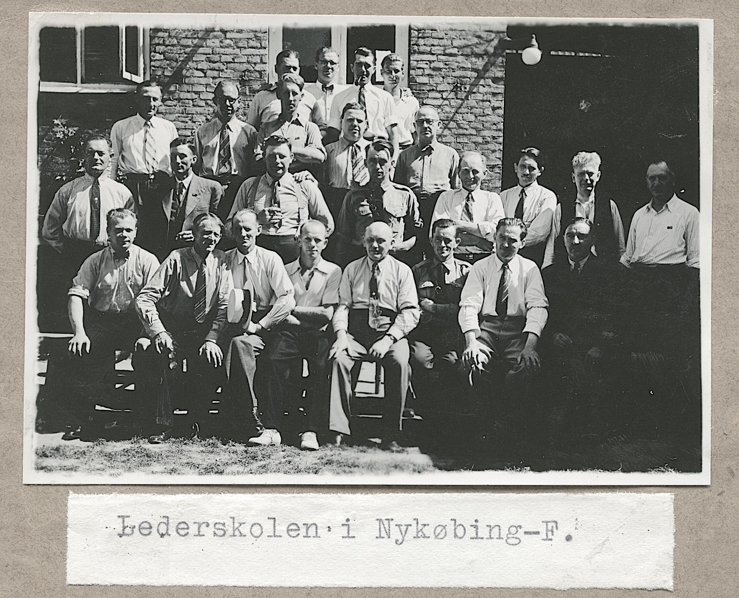Danske nazister på DNSAP-lederskole i Nykøbing Falster.