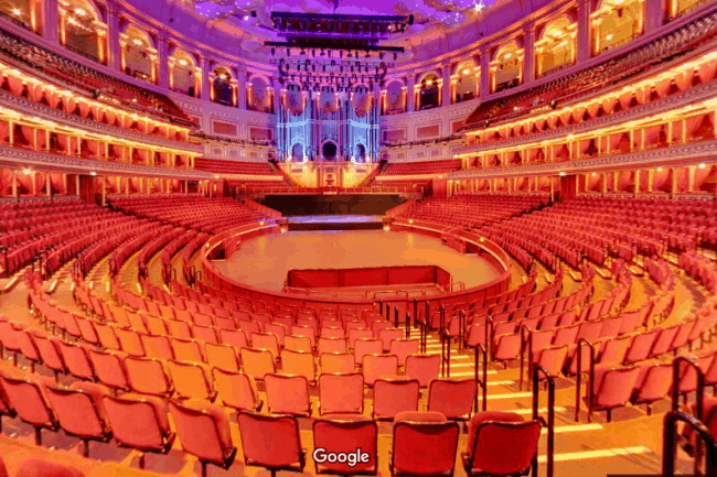 Take a virtual walk through of the iconic Royal Albert Hall via our specially made Google 360 Virtual Tour of the auditorium