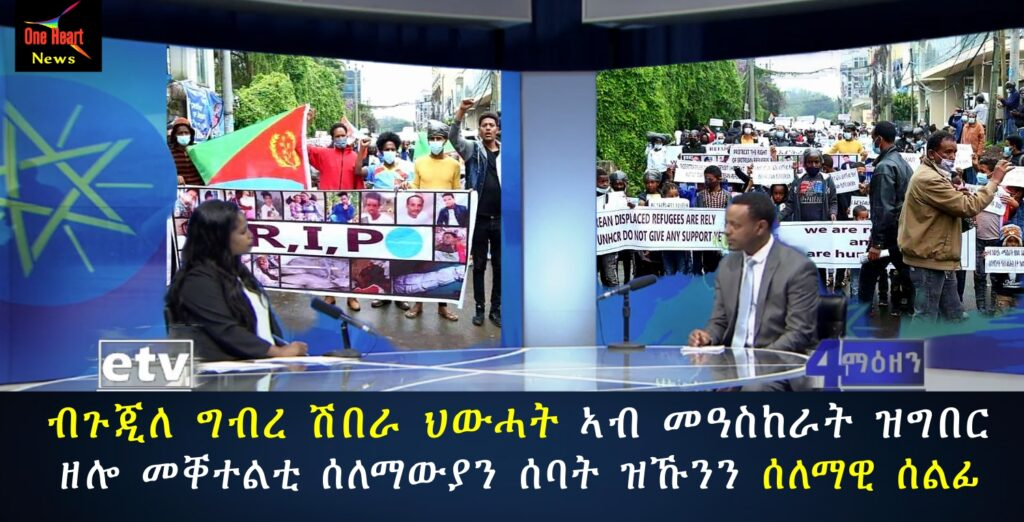 Eritreans march in Addis Ababa