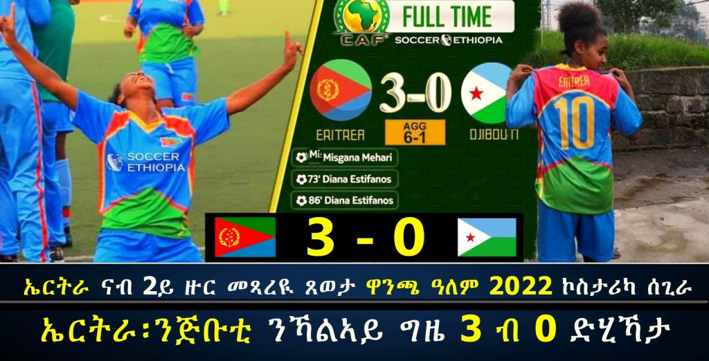 Eritrea qualify to the 2nd round of the 2022 World Cup