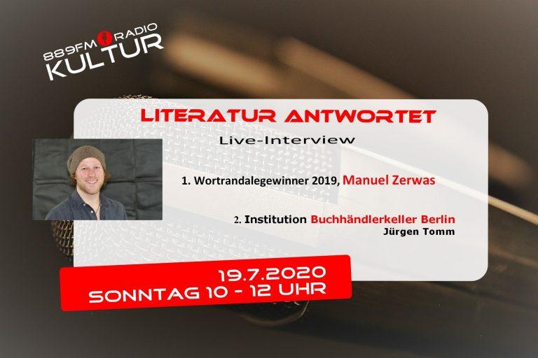 Literatur antwortet Manuel Zerwas und Buchhändlerkeller