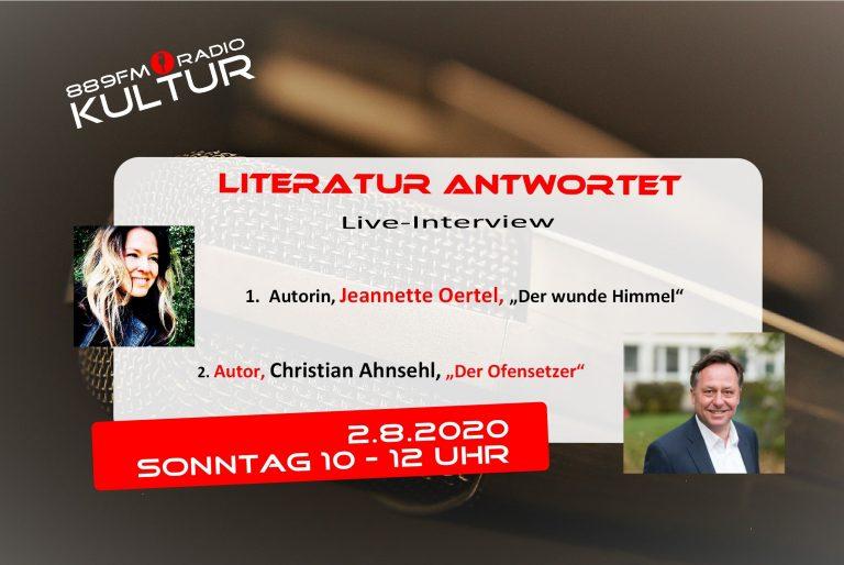 Literatur antwortet 2.8.2020, Jeannette Oertel, Christian Ahnsehl