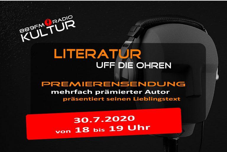 Literatur uff die Ohren – Premierensendung 30.7.2020