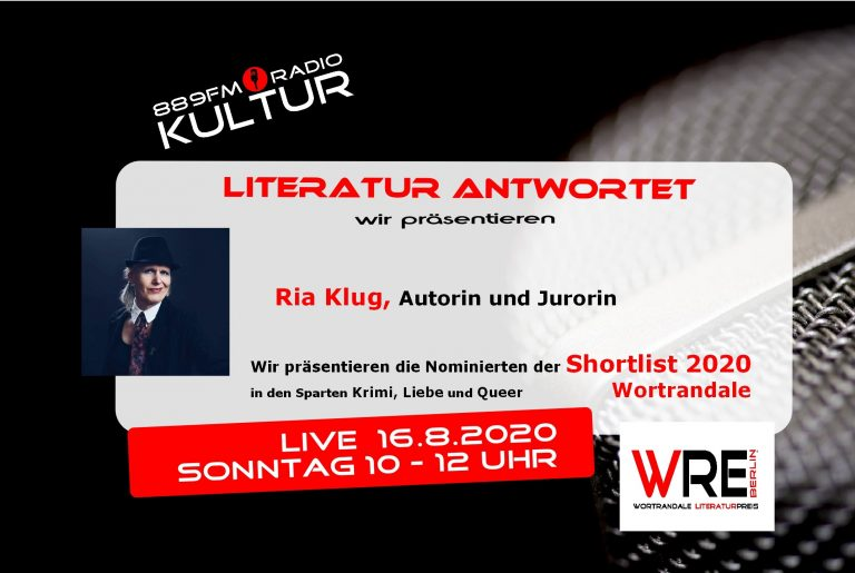 Literatur antwortet – Ria Klug & Shortlist Wortrandale 2020