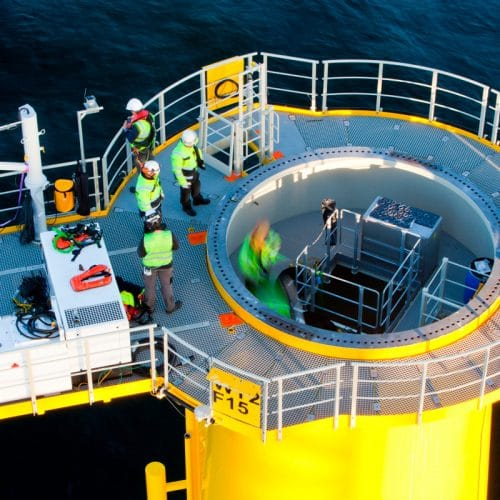 Project management services at offshore wind project
