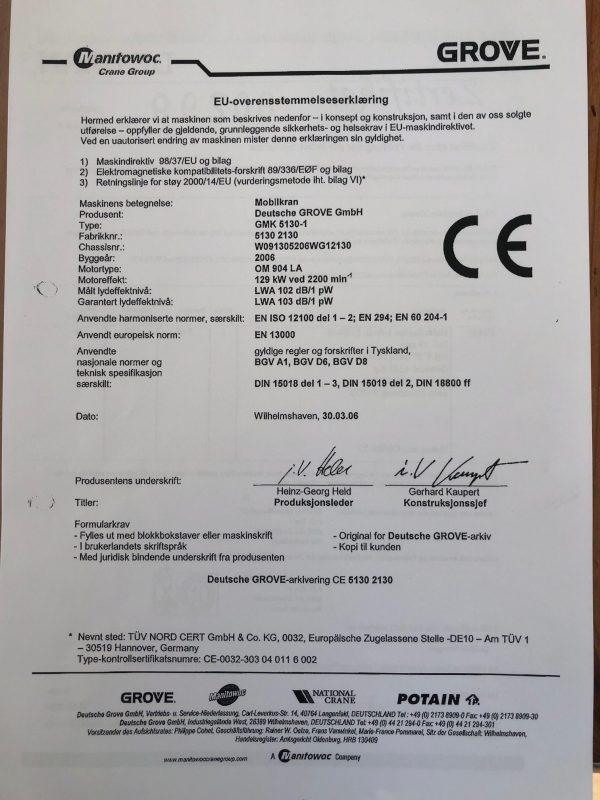 CE - samsvarserklæring