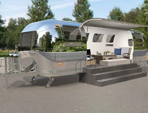 3D Produktvisualisierungen – Airstream Lounge