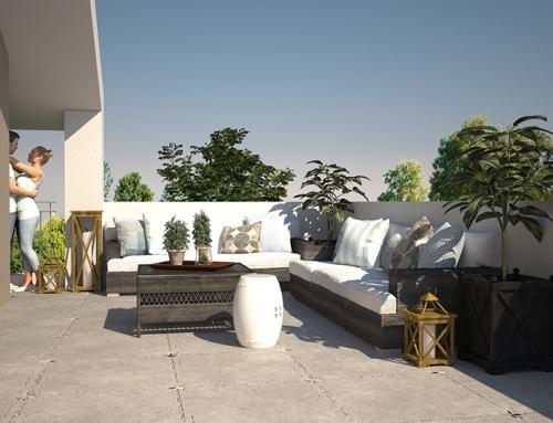 3D Architektur Visualisierungen Terrasse