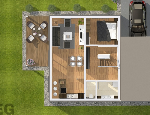 2D | 3D Grundrisse – Musterhaus-A EG
