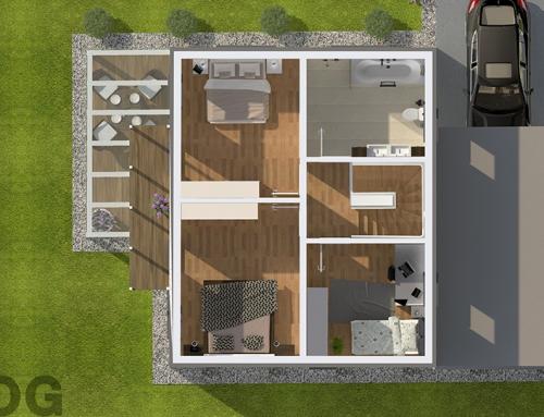 2D | 3D Grundrisse – Musterhaus-A OG