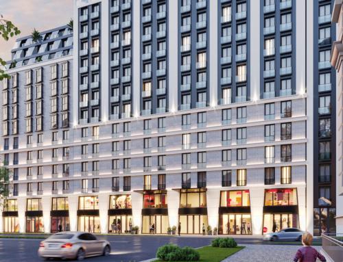 Architektur Visualisierungen Einkaufszentrum mit Wohnungen