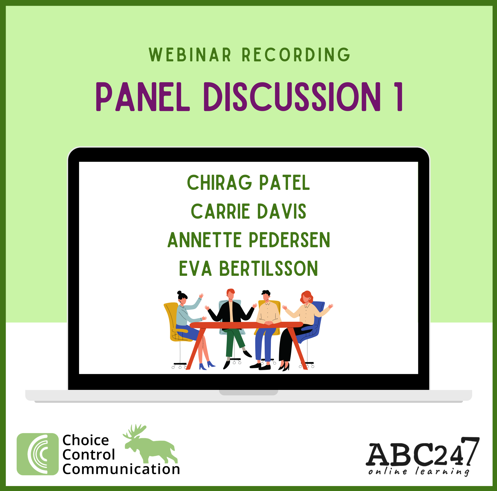 CCC live webinar April 26: Panel Discussion with Chirag, Carrie, Annette, Eva