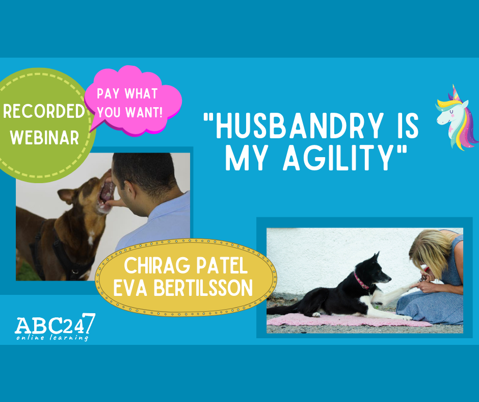 "Webinar recording:  ""Husbandry is my Agility"" with Chirag Patel and Eva Bertilsson"
