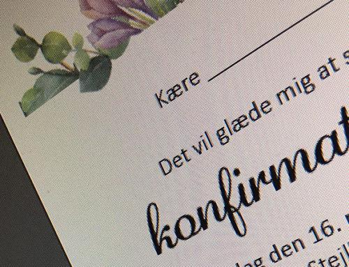 Design af invitationer